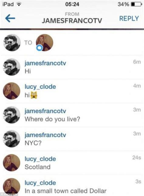 insta chat room franco hits on 17 on instagram and in texts daily mail