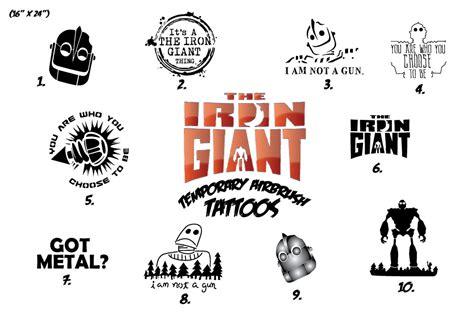 dreamworks the iron giant display faux tattoo studios