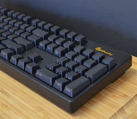 Mechanical Keyboard Ducky One Fullsize Side Print Pbt Blue Cherry Mx ducky dk9000g2 black with front side gold print version pbt mechanical gaming keyboard blue