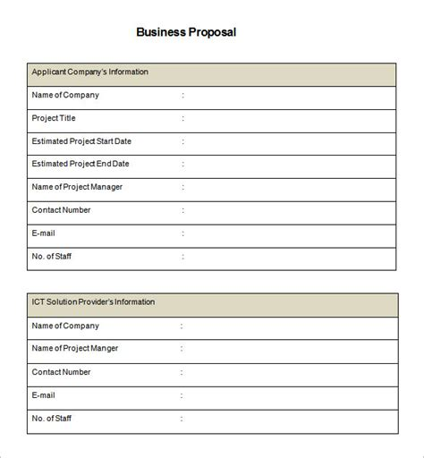 Free Proposal Template Cyberuse Bid Template Pdf