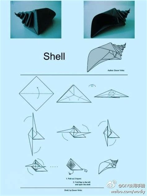 Origami Conch Shell - conch origami stuff to try conch shells