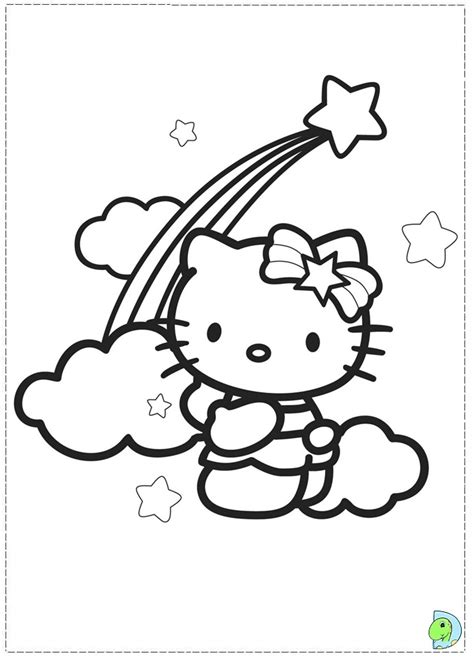 hello kitty coloring pages with crayons hello kitty coloring page dinokids org