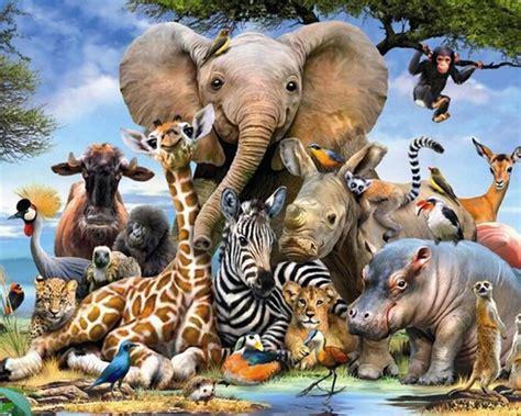 diy diamond painting animal world square full