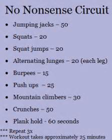 fit circuit workout at home workout exercies