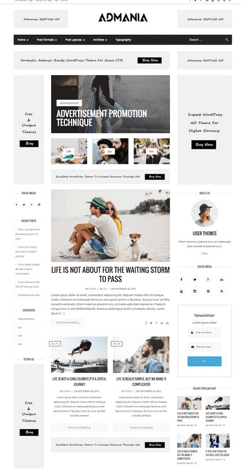 wordpress templates for advertising amazing ad optimized wordpress theme for high ctr admania