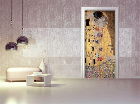 carta da parati per porte interne adesivo per porte il bacio di gustav klimt collezione arte
