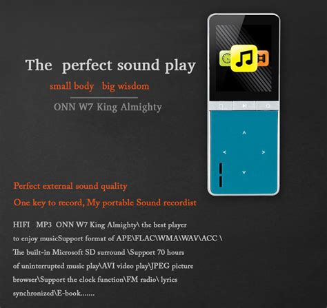 Onn W7 Mp3 Digital Audio Player 8gb With Mic Recorder Berkualitas onn w7 mp3 digital audio player 8gb with mic recorder tf