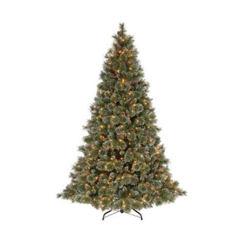 martha stewart living 9 ft sparkling pine artificial