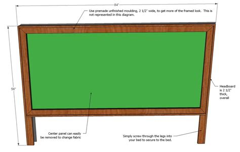 king size bed headboard measurements ana white king size framed upholstered headboard diy