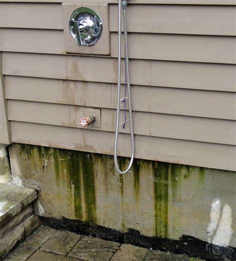 plumbing an outdoor shower leaking outdoor shower terry plumbing remodel diy