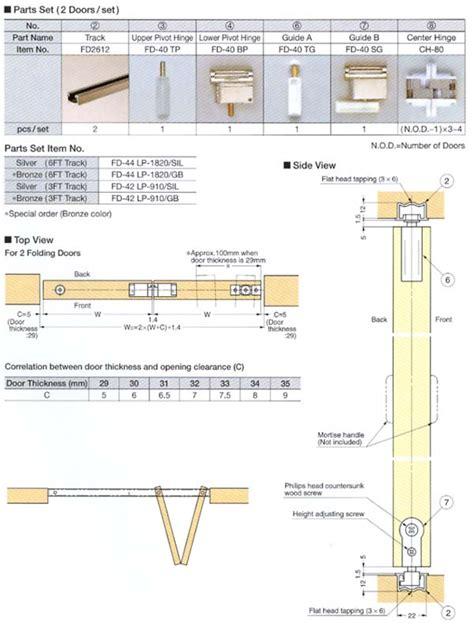 Folding Door Plan Drawing