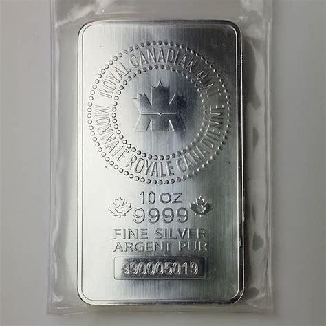 10 Oz Silver Bar - 10 oz rcm 10 oz 9999 silver bar jefferson coin
