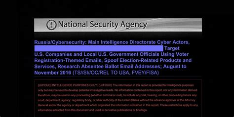 Nsa Report On Russian Hacking Of U S Election Hackers Website Template