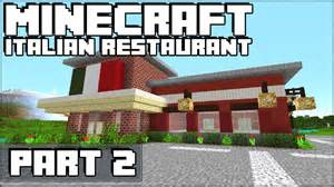 How to make an italian restaurant in minecraft part 2 youtube