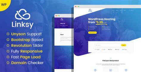 linksy domain  hosting provider wordpress theme