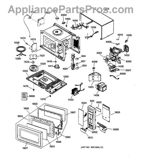 ge microwave parts diagram ge wb24x26575 thermostat sensor appliancepartspros