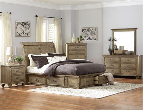 Homelegance Sylvania Bedroom Set Driftwood Sylvania Driftwood King Platform Storage Bed From