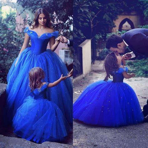 Rk01c2 Royal Pj Princess 8t 12t royal blue flower dresses for wedding cinderella dress princess children