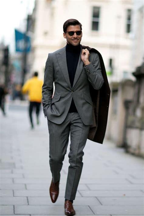 1000 ideas about black suit brown shoes on