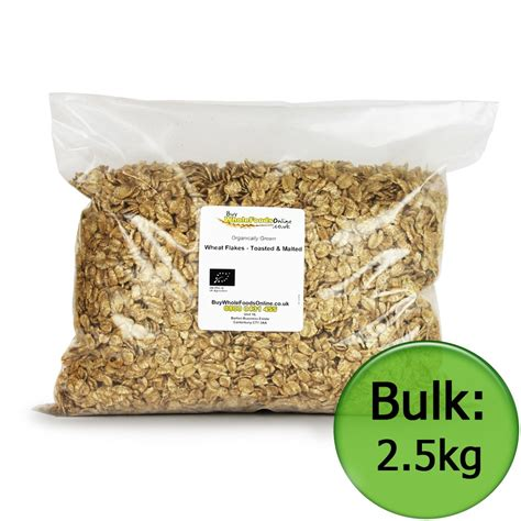 Whole Wheat Lazetta 2 5kg organic wheat flakes toasted malted 2 5kg