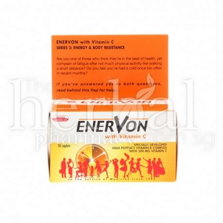 Vitamin Enervon C Tablet United American Enervon With Vitamin C Tablets 30 Kiong Onn