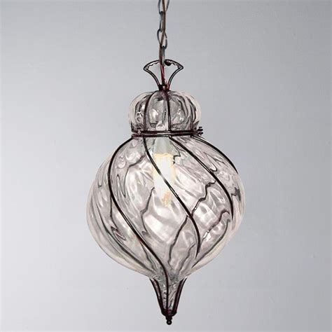 Glass Light Pendants Captured Glass Pendant Light