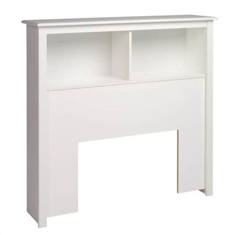 bookcase headboard in white wsh 4543