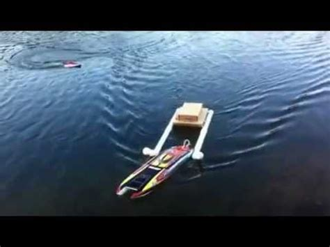 rc rescue boat rc rescue boat first misson youtube
