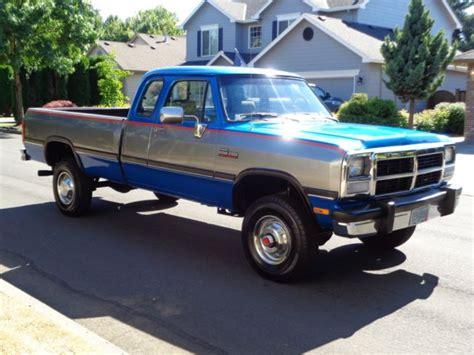 dodge ram d250 for sale 1992 dodge ram d250 2500 w250 4x4 cummins diesel low