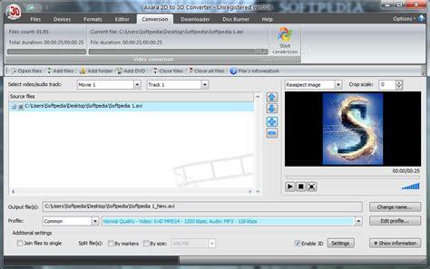 converter software axara 2d to 3d video converter download