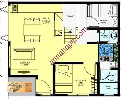 layout kantor sederhana contoh denah rumah layout annahape studio desain rumah