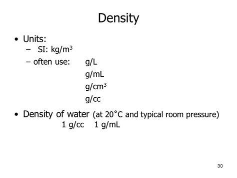 Density Of L by Chemistry Physical Chemistry Environmental Chemistry Nanotechnology Ppt