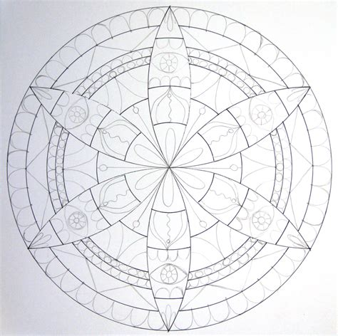 easy pattern sketch how to draw a mandala with a compass howtogetcreative com