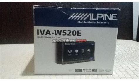 Unit Din Alpine Iva W520e unit alpine w520e lgk dus remote segel mulus spt baru