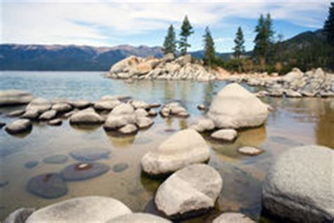 Tahoe Sand And Gravel Smooth Rocks Clear Water Lake Tahoe Sand Harbor Royalty