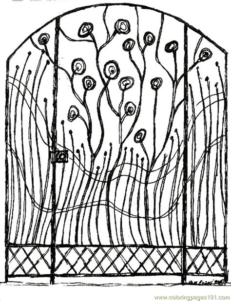 garden gate coloring pages coloring pages