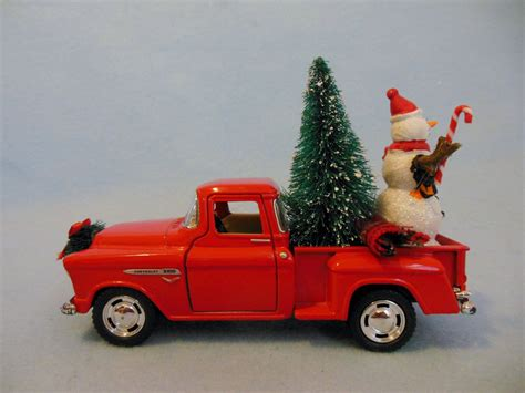 red christmas vintage pick ups for sale truck chevy up truck with tree and