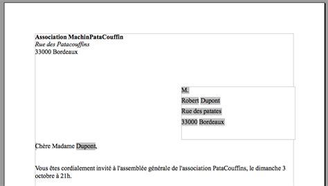 Exemple De Lettre Type Pour Publipostage Publipostage Wikicyb