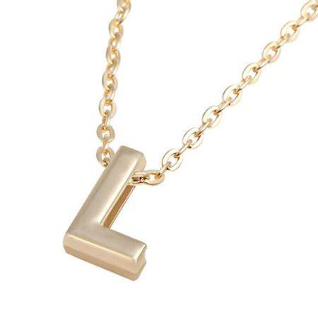 L Necklace zodaca initial quot l quot alphabet letter pendant charm with