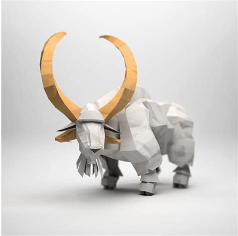3d Origami Animals - 3d origami illustrations of animals
