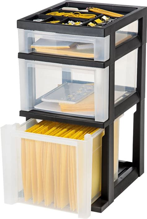 plastic storage filing drawers mobile 3 drawer plastic file storage cart w organizer top