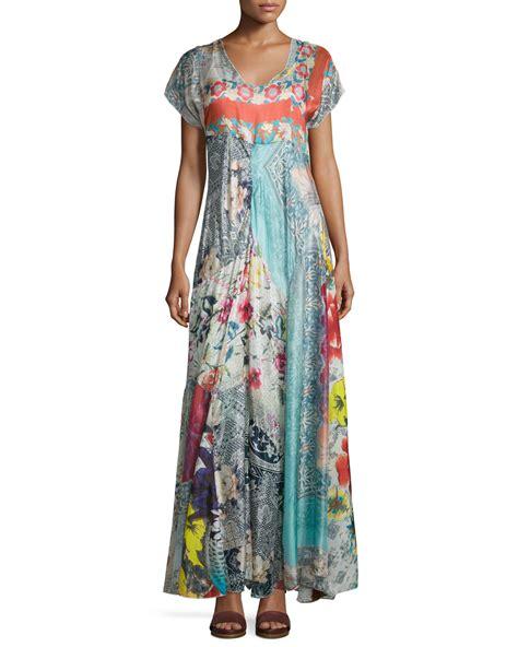 Maxi Dress Bordier Lulu lyst johnny was lulu floral print maxi dress
