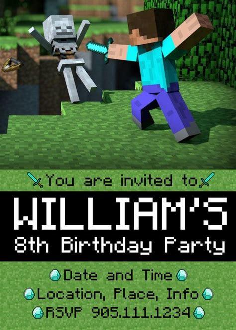 47 best minecraft party images on pinterest birthdays minecraft