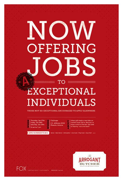 now offering jobs to exceptional individuals graphic
