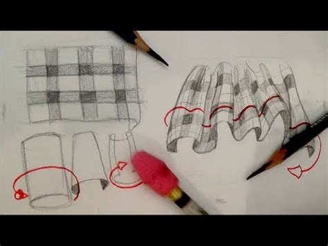 drawing pattern on fabric how to draw plaid pattern clothing fabric drapery and