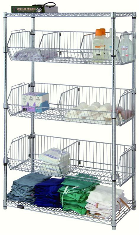 wire basket shelving system wire storage wire basket rack carts hospital