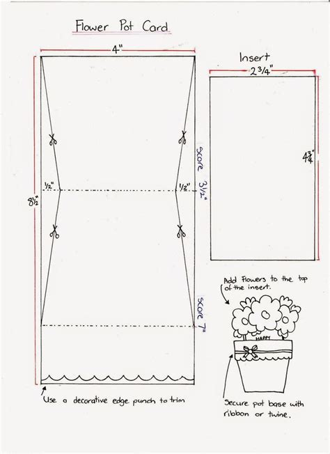 flower pot shaped card template stin it up with belinda flower pot cards tutorials