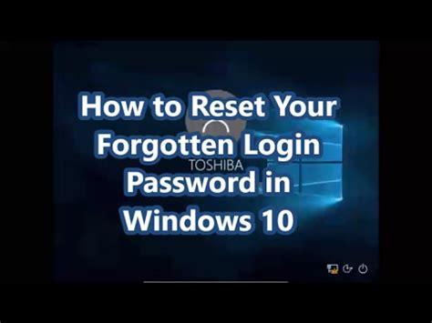 how to reset forgotten xpmuser password in windows xp mode how to reset your forgotten login password in windows 10