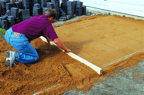 Patio Paver Base Sand How To Build A Patio On Your Own Hirerush