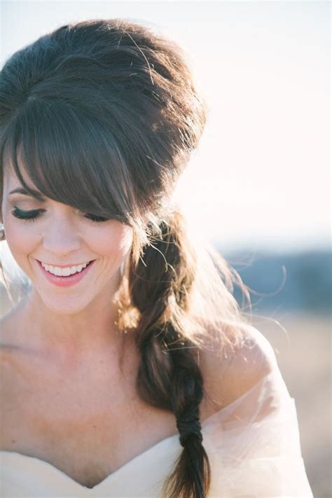side bang braid hairstyles woodsy colorado wedding side braids bangs and braids
